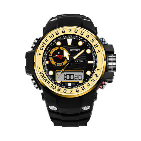 Outfit Sanda 399 5314 Leisure Luminous Outdoor Men Watch - BLACK AND GOLDEN  Mobile