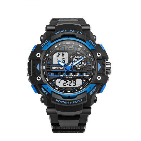 Outfits Sanda 740 5321 Outdoor Double Movement Luminous Men Watch
