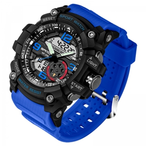 Sanda 759 Three-pin 5309 Fashion Night Light Shows Double-core Men's Watch -