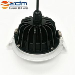 Zdm 7W Waterproof Ip65 600 - 650LM Round Led Downlight Ceiling Llight Semi Outdoor Cold Ac 85-265v / Ac 12v / Ac 24v -
