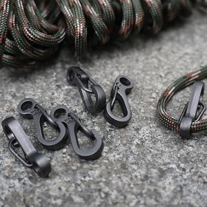 10PCS/SET Spring Buckle Snap Alloy Nickel-Free Plating Mini Key Ring Carabiner Bottle Hook Paracord Camping Accessories -