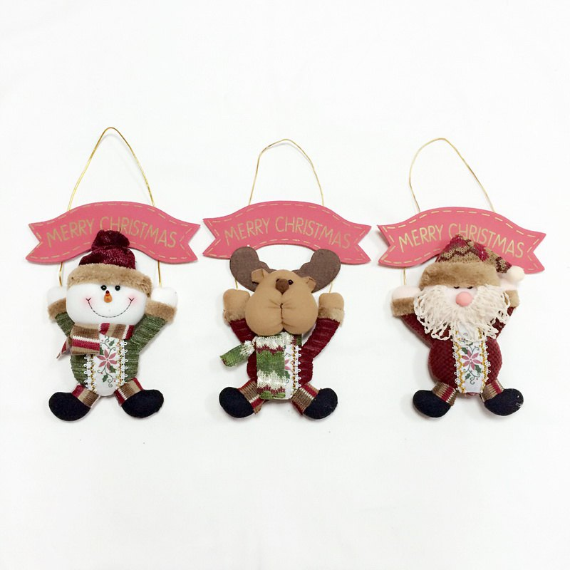Trendy 3Pcs Good Quality Christmas Decoration Door Hangers