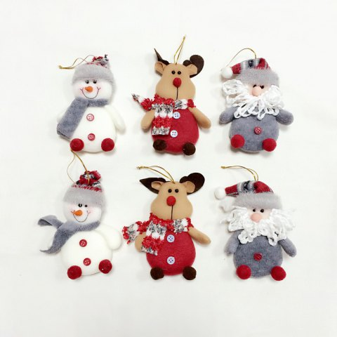 Outfit 6Pcs Good Quality Christmas Ornaments / Tree Decoration COLORMIX