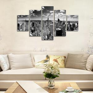 Hx-Art No Frame Canvas Five-Set Paint High-Rise City Décoration de salon -