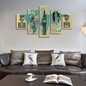 HX-ART No frame canvas set painting abstract still-living room decoration paintings -