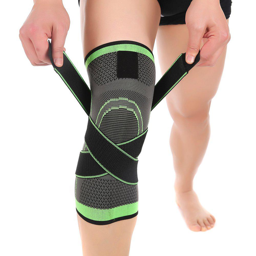 Mumian S13 Three - Dimensional Weaving Compression Adjustable Knee Pad - 1PCSHOME<br><br>Size: XL; Color: GREEN + GREY;