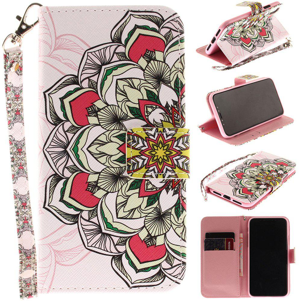 Outfit Half Pattern Pu+Tpu Leather Wallet Case with Card Holder/Magnetic Closure Flip Cover for iPhone X