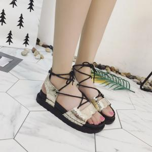The New Fashionable Xia Jioping Heel Shoe of Platform Sandals - GOLDEN 38