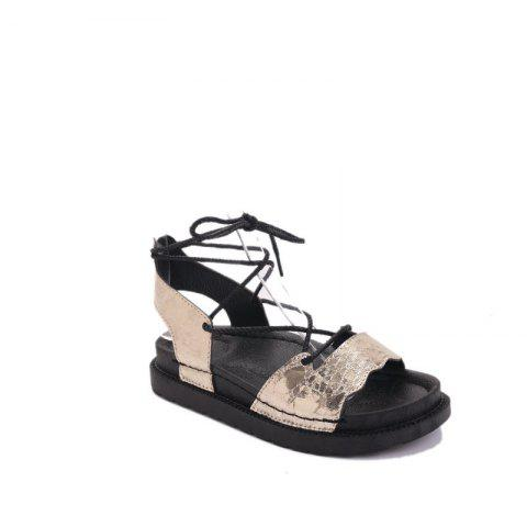 Outfit The New Fashionable Xia Jioping Heel Shoe of Platform Sandals