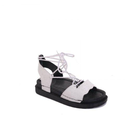 Unique The New Fashionable Xia Jioping Heel Shoe of Platform Sandals - 36 WHITE Mobile
