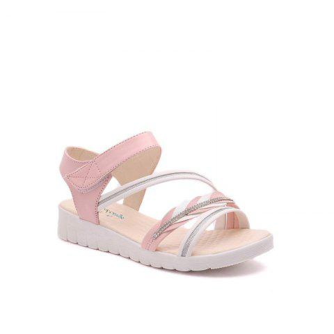 Chic The Wedge Heel of The Student Sandals PINK 36