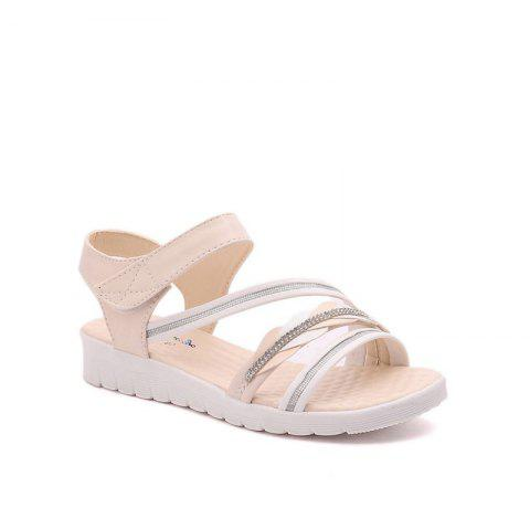 Latest The Wedge Heel of The Student Sandals BEIGE 36