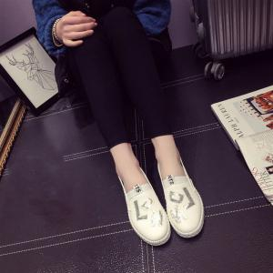 Casual Leather Platform Shoes - WHITE 36