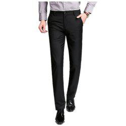 Baiyuan Trousers Business Casual Mens Suit Pants Black -