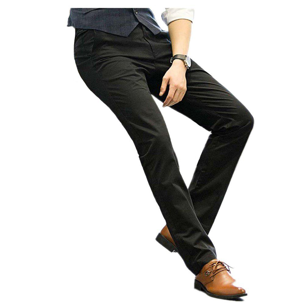0bf0dec12 Baiyuan Trousers Business Casual Mens Slim Fit Suit Pants Black