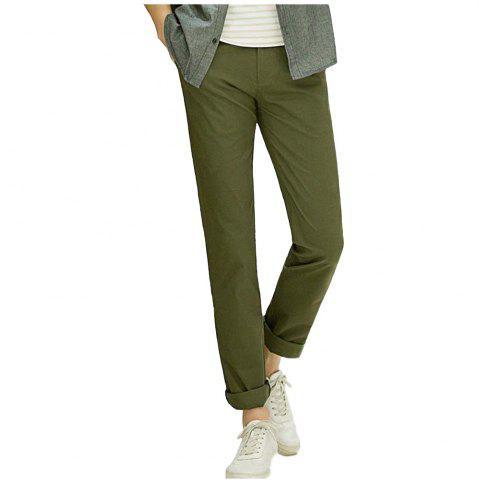 Sale Baiyuan Trousers Casual Slim Fit Mens for Pants Army Green - 40 ARMY GREEN Mobile