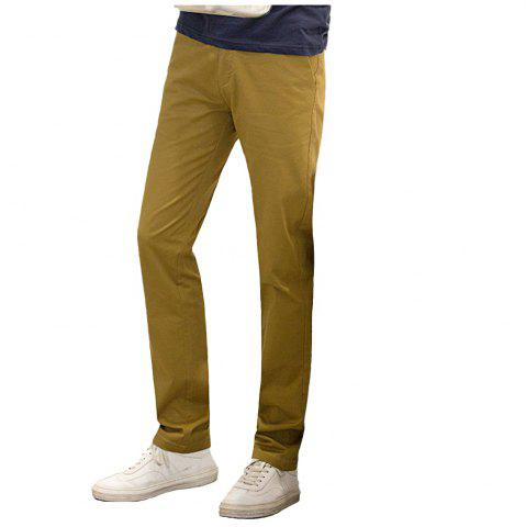 Store Baiyuan Trousers Casual Slim Fit Mens Pants Khaki KHAKI 40