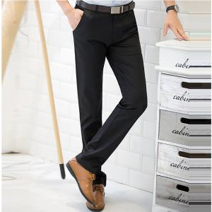 Baiyuan Trousers Casual Slim Fit for Mens Pants Black - BLACK 2R2610# 38