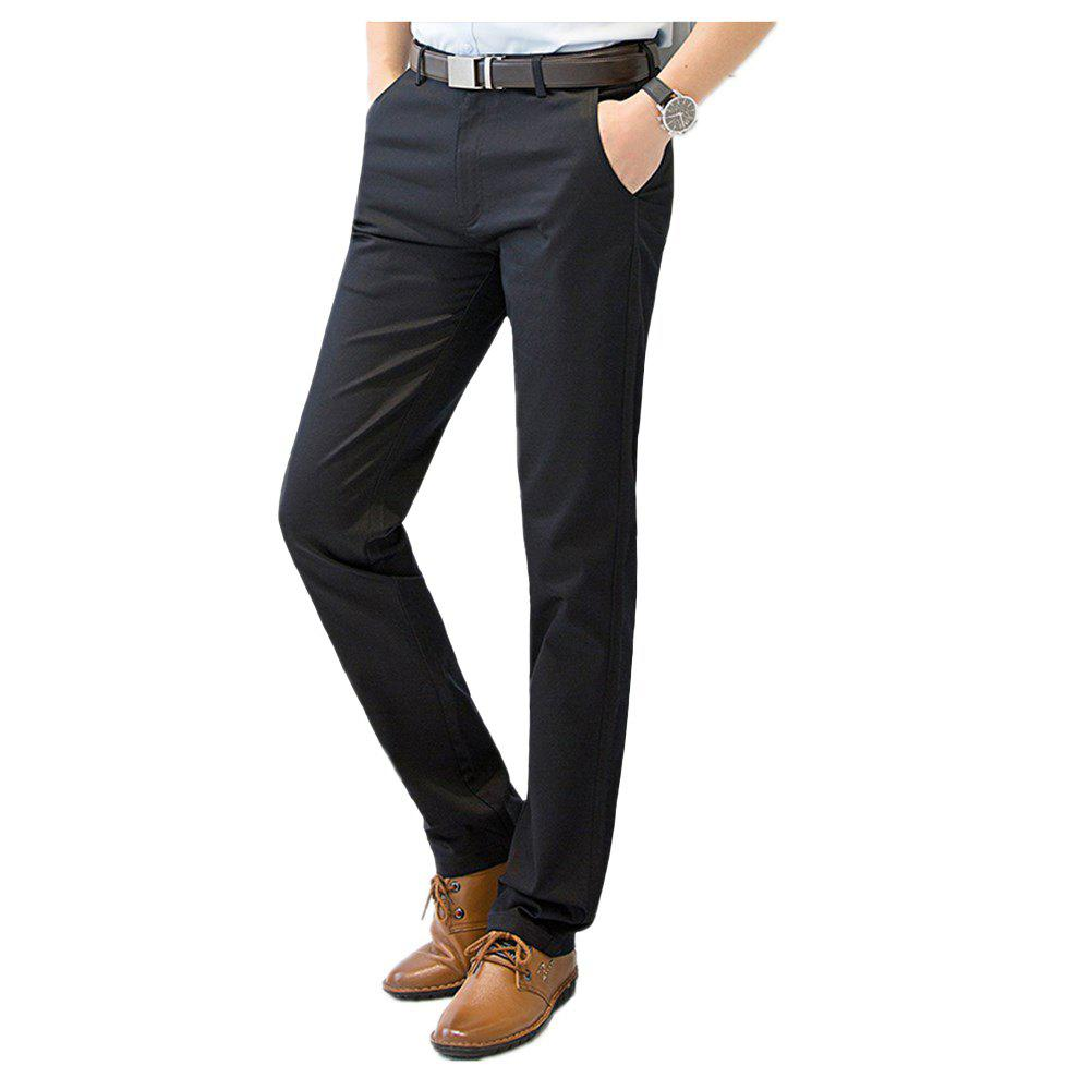 Cheap Baiyuan Trousers Casual Slim Fit for Mens Pants Black
