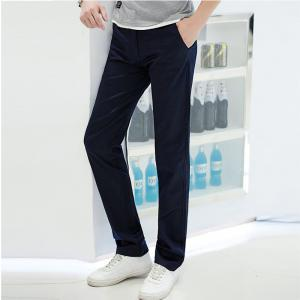 Baiyuan Trousers Casual Slim Fit Mens Pants Dark Blue - DARK BLUE 3952/1# 31