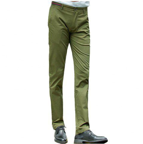 Store Baiyuan Trousers Casual Slim Fit Mens Pants Army Green