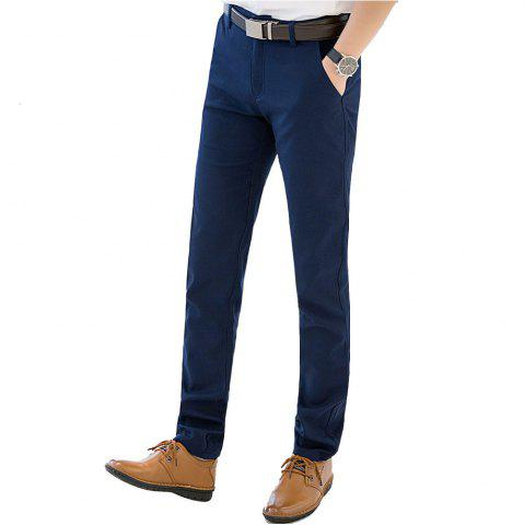 New Baiyuan Trousers Autumn Business Casual Slim Fit Mens Suit Pants Blue - 40 BLUEBELL Mobile