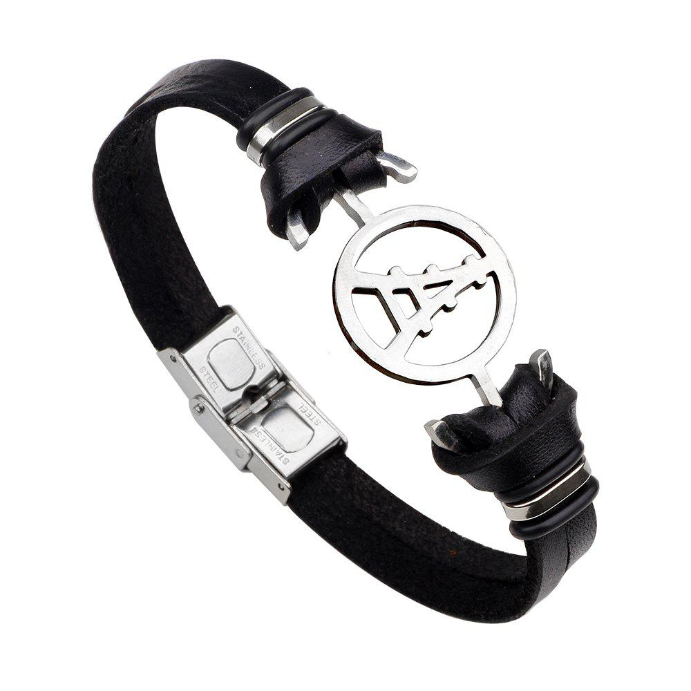 Store Magnetic Buckle Leather Bracelet Personality Tower Bracelets