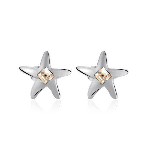 Fashion Ouxi Starfish Stud Earrings with White Crystals for Girls - OYSTER  Mobile