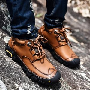 Fashion Anti-slip Mid Top Leather Boots for Men -