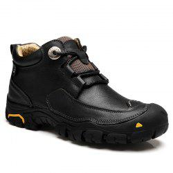 Men'S Boots for Men'S Short Boots and Anti-Skid Boots in Winter - BLACK 45