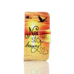 Knife and Draw Painted PU Phone Case for Iphone 5 / 5S / Se -