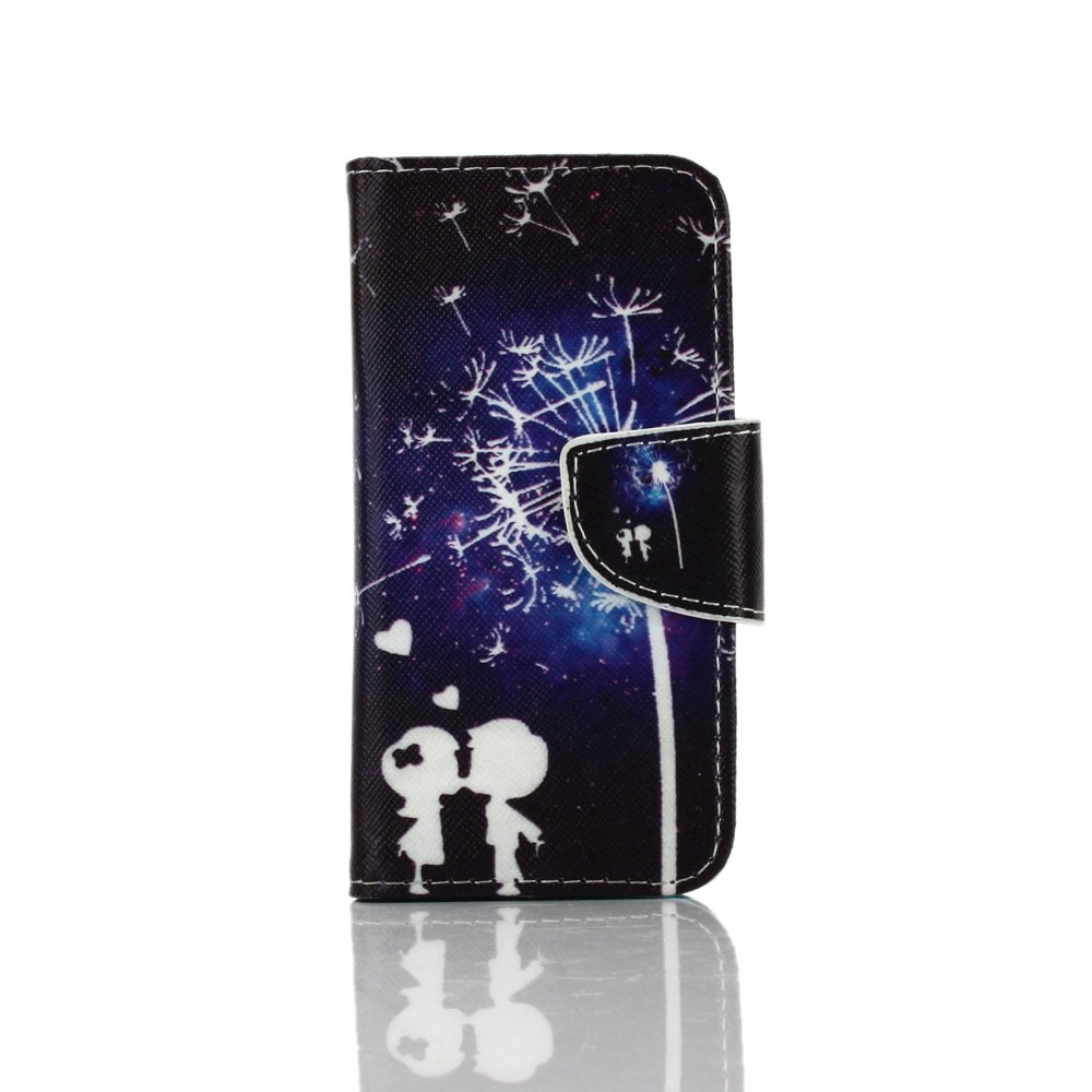 Hot Knife and Draw Painted PU Phone Case for Iphone 5 / 5S / Se