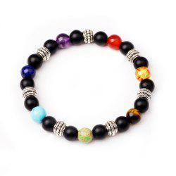 7 Colour Agate Beads By Hand Black Frosted Yoga Energy Beads Bracelet 8MM -