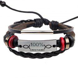 Korean Style Alloy Braided Leather Bracelet Lovers Bracelet -