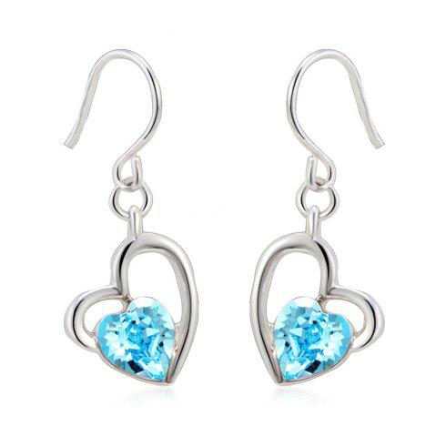Latest The Lure of Angel 18K White Gold Colored Heart Crystal Fashion Earrings FROST