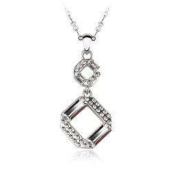 Sterling Silver Plated White-Gold Jewelry pendant Necklaces for Womens girls -