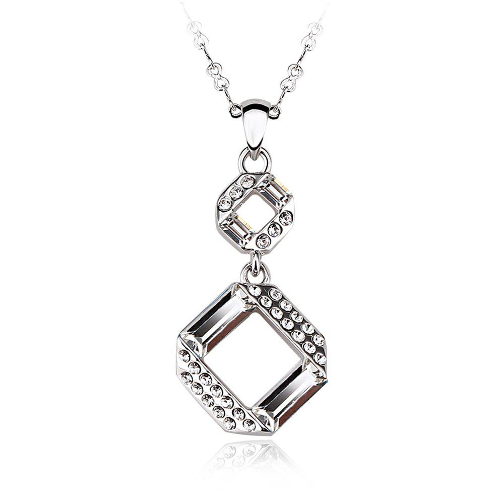 Outfits Sterling Silver Plated White-Gold Jewelry pendant Necklaces for Womens girls