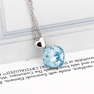 Ouxi Crystal Pendant Necklaces Heart Shape Fashion Jewelry for Womens Girls -