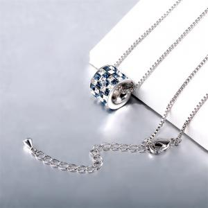 Womens mens Colorful Lucky Ring Crystal Love pendant Necklace for Gift Souvenir -