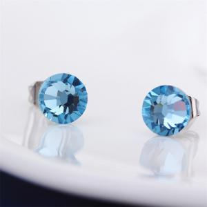 New Swarovski Elements Round Studs Austrian Crystal Eyes Shape Earrings -