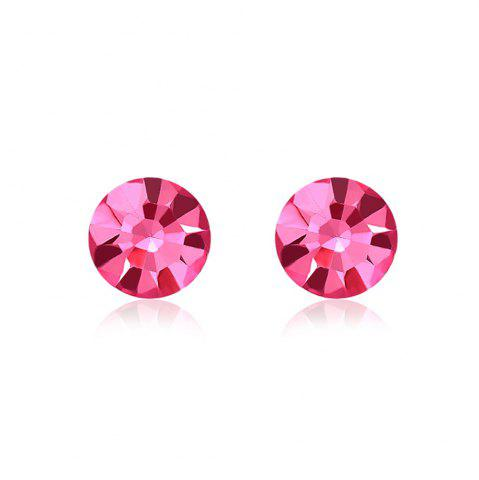 Hot New Swarovski Elements Round Studs Austrian Crystal Pink Eyes Shape Earrings