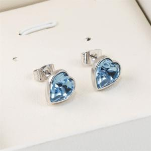 Sterling Silver Love Heart Heartbeat Earrings Made with Swarovski Crystals -