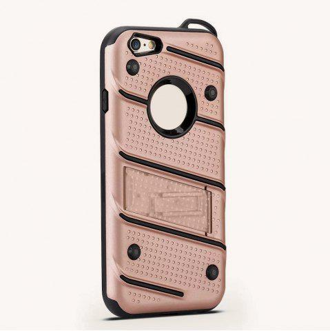 Trendy Wkae Ultra Thin Dual Layer Shockproof TPU Back Cover Case with Kickstand for iPhone 6 / 6s