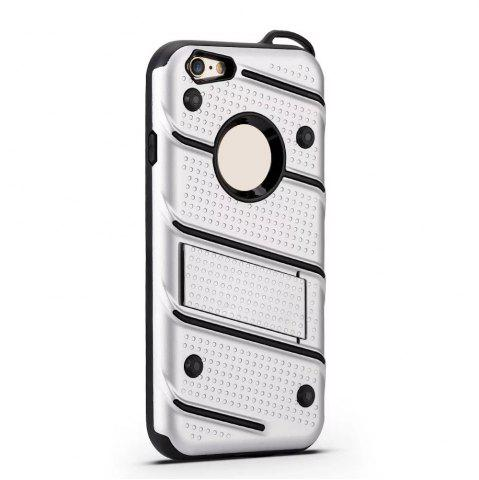 Affordable Wkae Ultra Thin Dual Layer Shockproof TPU Back Cover Case with Kickstand for iPhone 6 / 6s