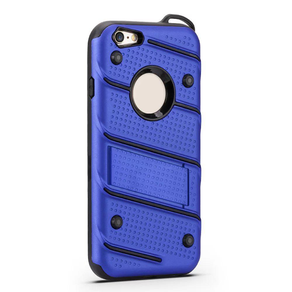 Outfits Wkae Ultra Thin Dual Layer Shockproof TPU Back Cover Case with Kickstand for iPhone 6 / 6s