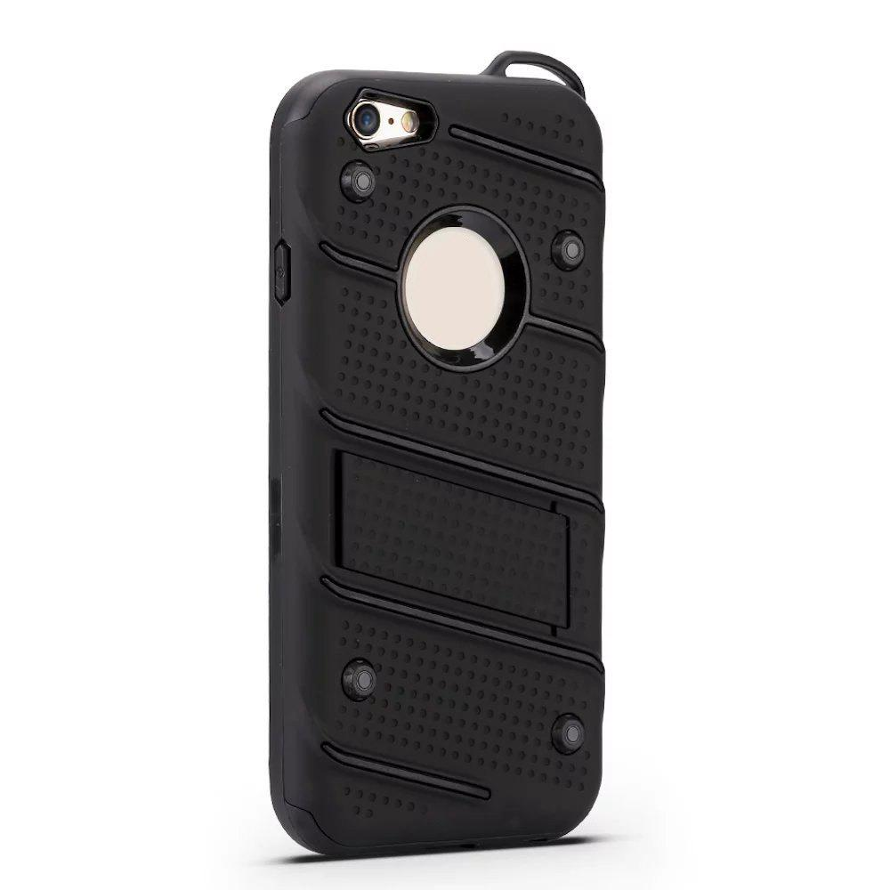 Chic Wkae Ultra Thin Dual Layer Shockproof TPU Back Cover Case with Kickstand for iPhone 6 / 6s