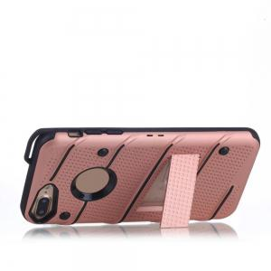 Wkae Ultra Thin Dual Layer Shockproof TPU Back Cover Case with Kickstand for iPhone 7 Plus / 8 Plus -