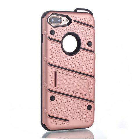 Trendy Wkae Ultra Thin Dual Layer Shockproof TPU Back Cover Case with Kickstand for iPhone 7 Plus / 8 Plus