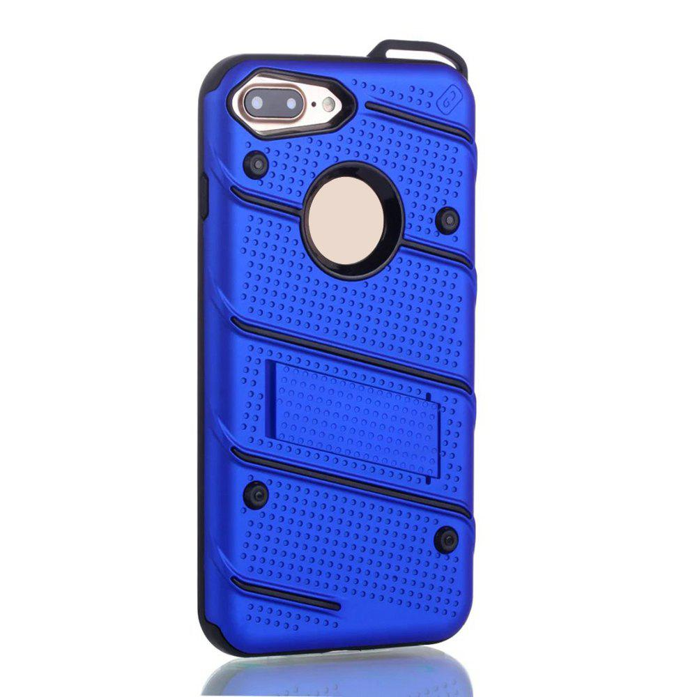 Fancy Wkae Ultra Thin Dual Layer Shockproof TPU Back Cover Case with Kickstand for iPhone 7 Plus / 8 Plus