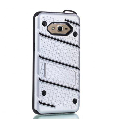 Unique Wkae Ultra Thin Dual Layer Shockproof TPU Back Cover Case with Kickstand for Samsung Galaxy J2 Prime
